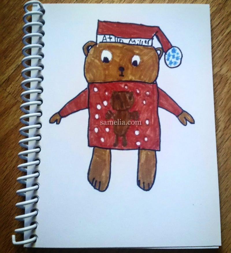 santa bear, holiday, holiday season, samelia's world, samelia, samelia miller, atlin, atlin owens, atlin owens miller, christmas list, holiday gifts